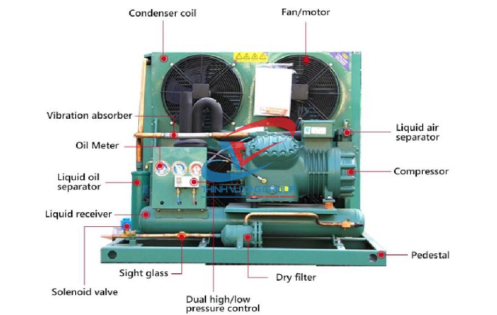 Cụm máy nén dàn ngưng kho lạnh Hitachi
